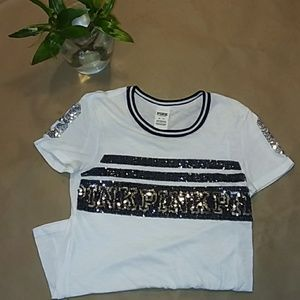 VS PINK Sparkly Tee